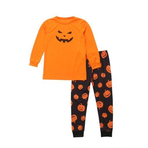 Jack-o'-lantern Printed Matching Family Pajamaas 4