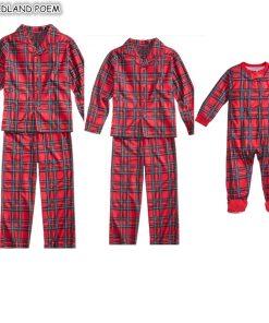 Plaids Matching Family Pajamas 7