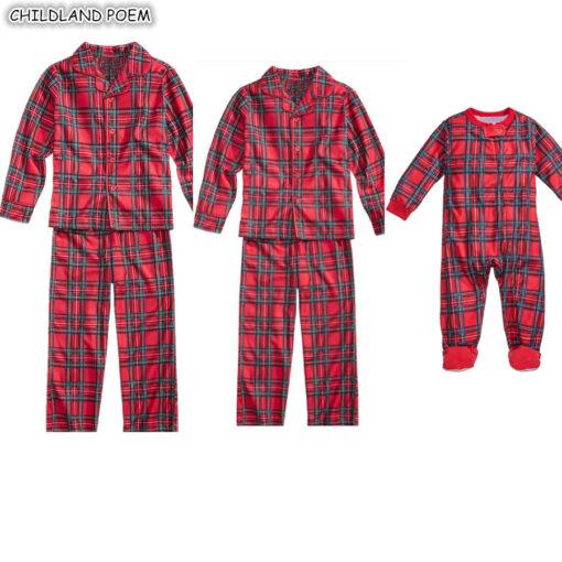 Plaids Matching Family Pajamas 4