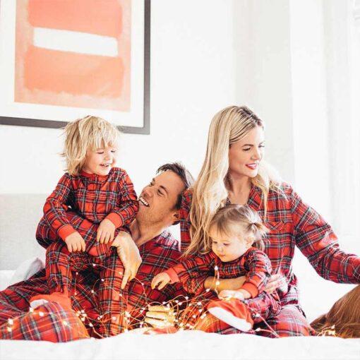 Plaids Matching Family Pajamas 1