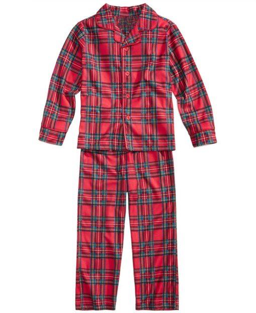 Plaids Matching Family Pajamas 3