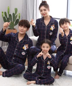 Cotton Casual Family Matching Pajamas 7