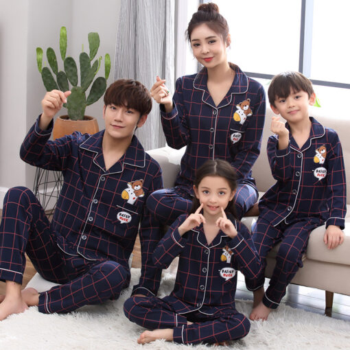 Cotton Casual Family Matching Pajamas 2
