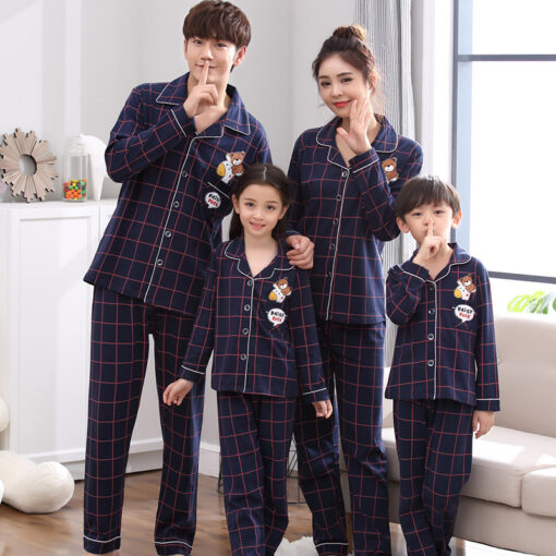 Cotton Casual Family Matching Pajamas 1