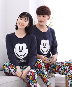 Casual Mickey Prints Family Matching Pajamas 8