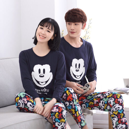 Casual Mickey Prints Family Matching Pajamas 2