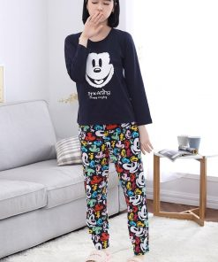 Casual Mickey Prints Family Matching Pajamas 13