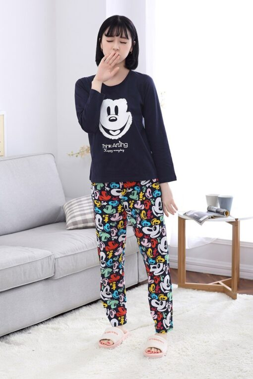 Casual Mickey Prints Family Matching Pajamas 7