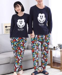 Casual Mickey Prints Family Matching Pajamas 9