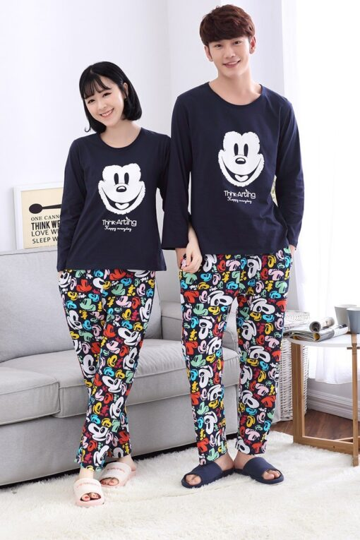 Casual Mickey Prints Family Matching Pajamas 3