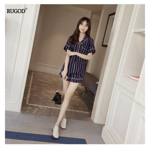 Stunning Summer Striped Women Pajamas 1
