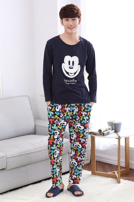 Casual Mickey Prints Family Matching Pajamas 6