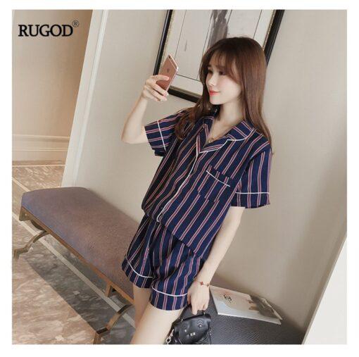 Stunning Summer Striped Women Pajamas 2