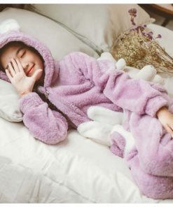 Bunny Ear Onesie Easter Pajamas 3