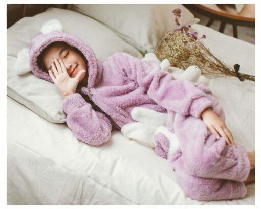 Bunny Ear Onesie Easter Pajamas 2