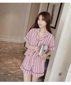 Summer Stunning Striped Women Pajamas 4