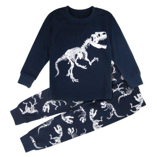 Dinosaur Print Pajamas For Halloween 1