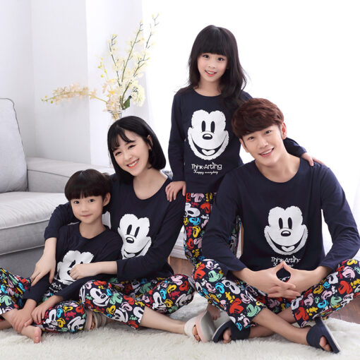 Casual Mickey Prints Family Matching Pajamas 1