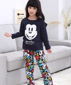 Casual Mickey Prints Family Matching Pajamas 10