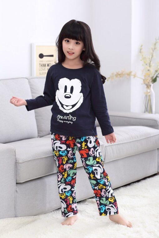 Casual Mickey Prints Family Matching Pajamas 4