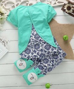Bunny Print Pajamas for Kids 4