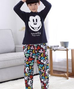 Casual Mickey Prints Family Matching Pajamas 11