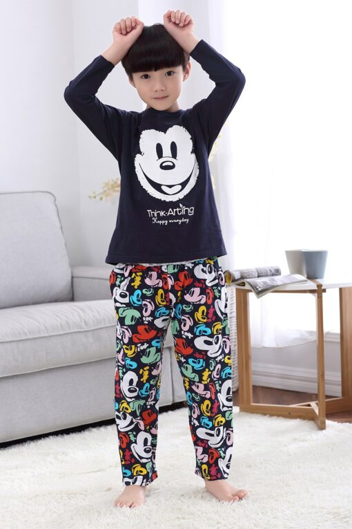 Casual Mickey Prints Family Matching Pajamas 5