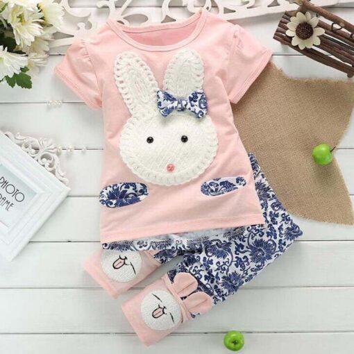 Bunny Print Pajamas for Kids 3