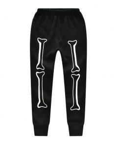 Halloween Horror Bones Print Pajamas For Kids 5