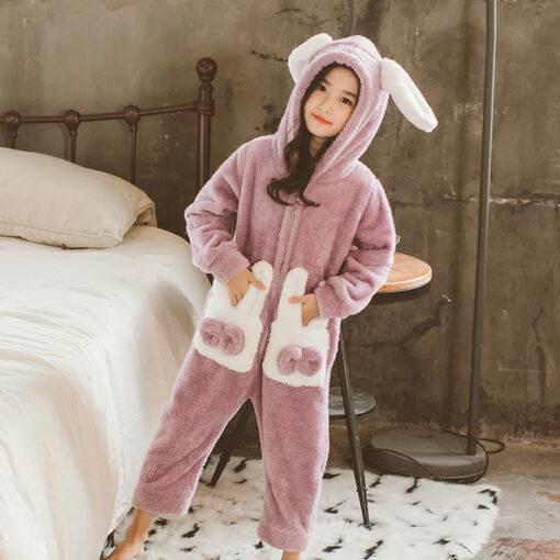 Bunny Ear Onesie Easter Pajamas 1