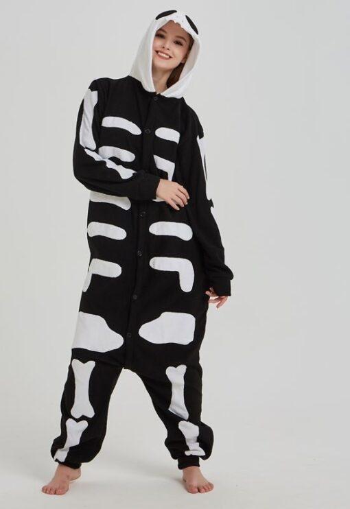 Halloween Skeleton Women Onesie Pajamas 1