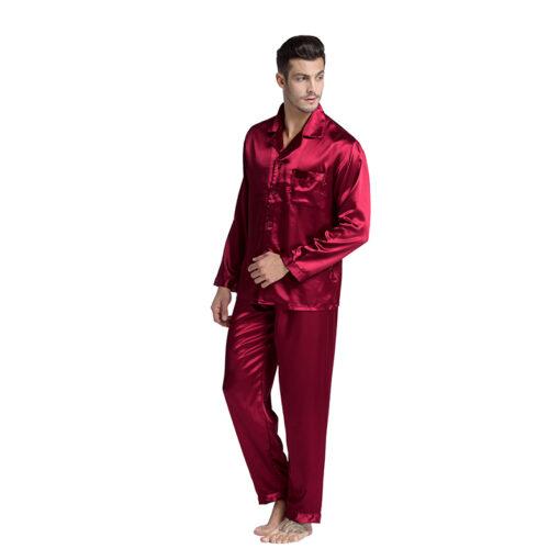 Solid Color Black Friday Men Pajamas 1