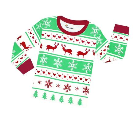 Christmas Theme Cute Kids Pajamas 2