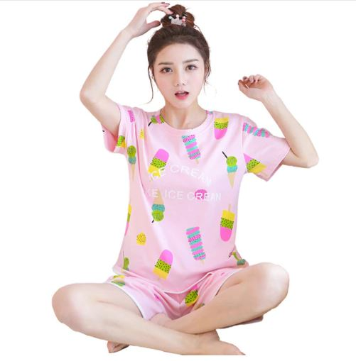 Adorable Ice-cream Print Pajamas 1