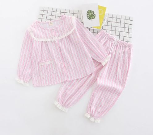 Striped Cotton Easter Pajamas 1
