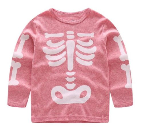 Halloween Horror Bones Print Pajamas For Kids 2