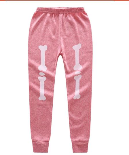 Halloween Horror Bones Print Pajamas For Kids 3