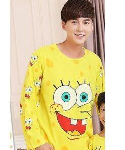 Cotton Matching Sponge-bob Pajamas Set For Family 6
