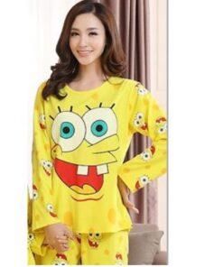 Cotton Matching Sponge-bob Pajamas Set For Family 7