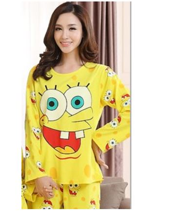 Cotton Matching Sponge-bob Pajamas Set For Family 4