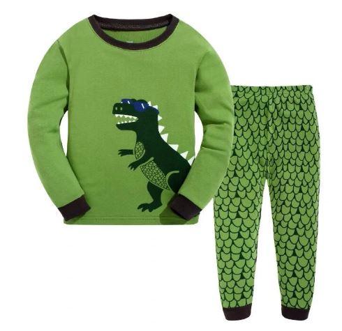 Dinosaur Print Black Friday Kids Pajamas 1