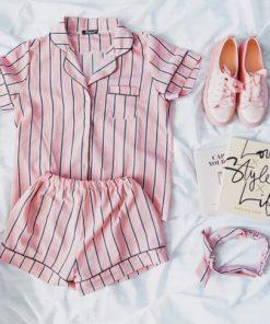 Summer Stunning Striped Women Pajamas 5