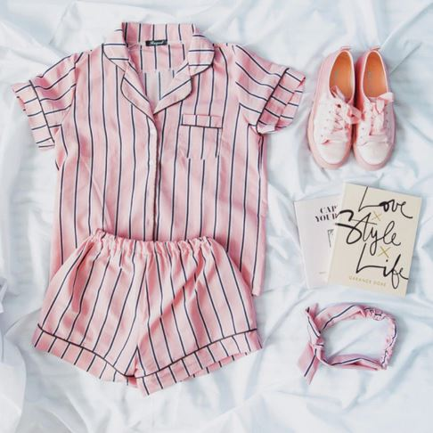 Summer Stunning Striped Women Pajamas 3