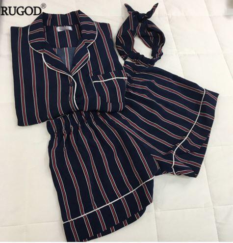 Stunning Summer Striped Women Pajamas 4