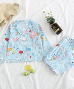 Adorable Animal Printed Easter Pajamas 3
