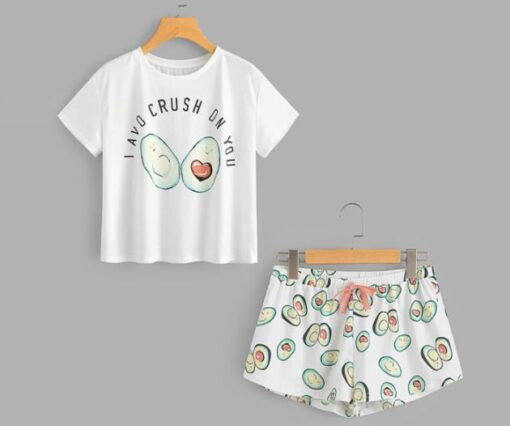 Adorable Avocado Night suit Women Pajamas 1