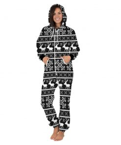 Deer Hooded Matching Pajamas for Couple 10