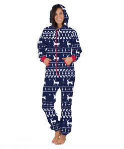 Deer Hooded Matching Pajamas for Couple 7