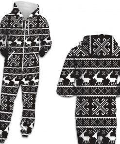 Deer Hooded Matching Pajamas for Couple 8