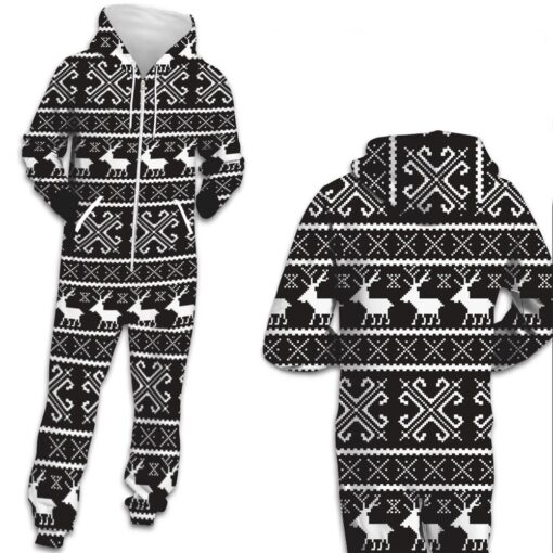 Deer Hooded Matching Pajamas for Couple 3